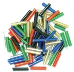 CF01\10 Long Bugle Beads: 9mm: 5 Packs of 15g - Full Colour Range